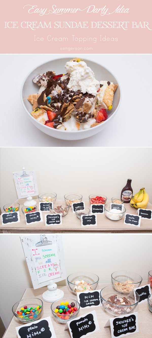 ice cream sundae dessert bar