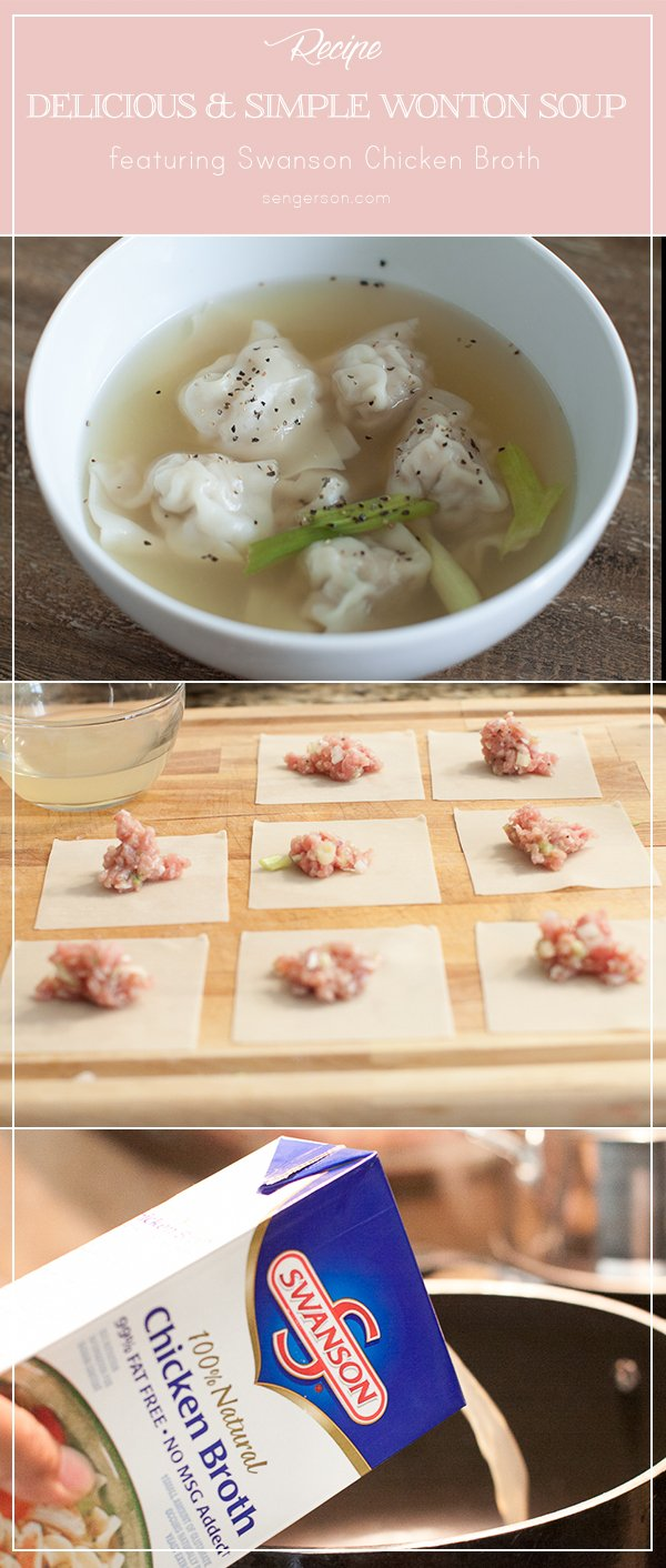 Simple wonton recipe with easy directions to follow from blogger at www.sengerson.com.