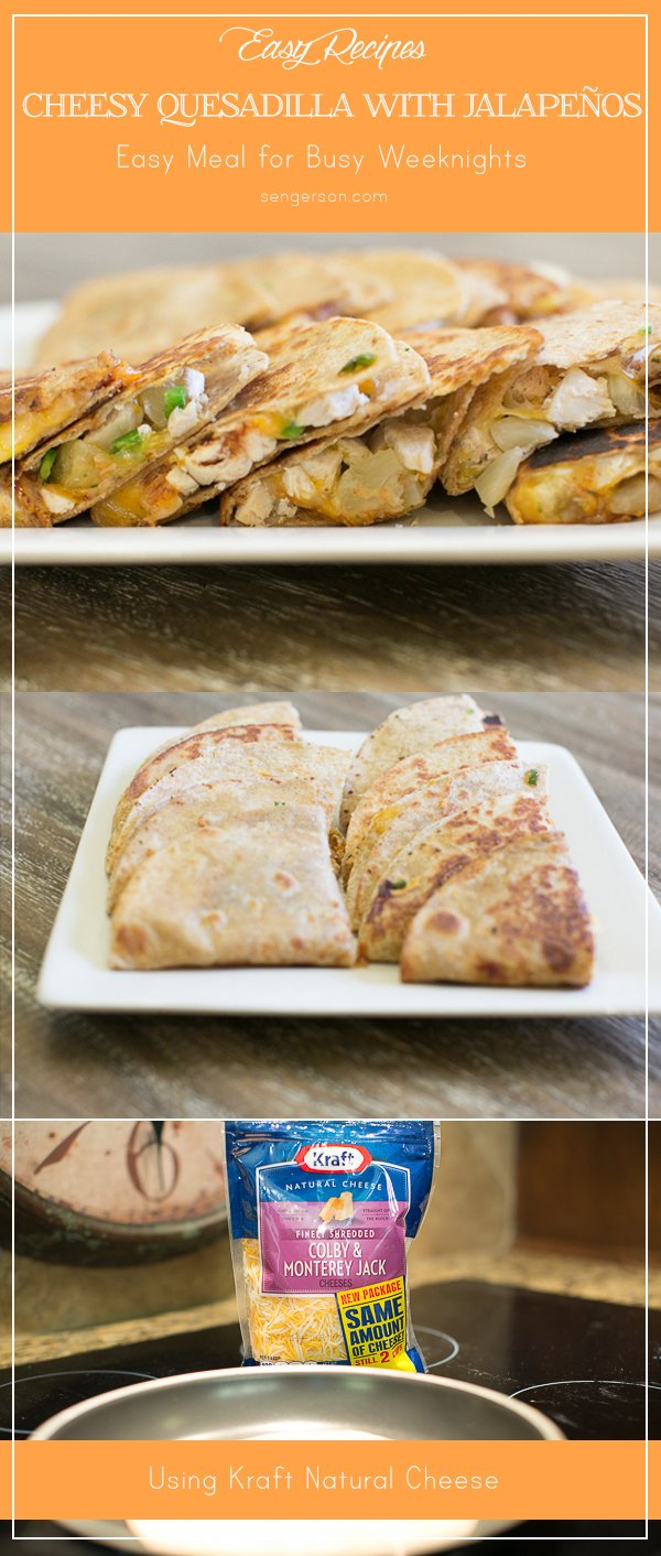 cheesy quesadilla with jalapeno quick easy weeknight meal