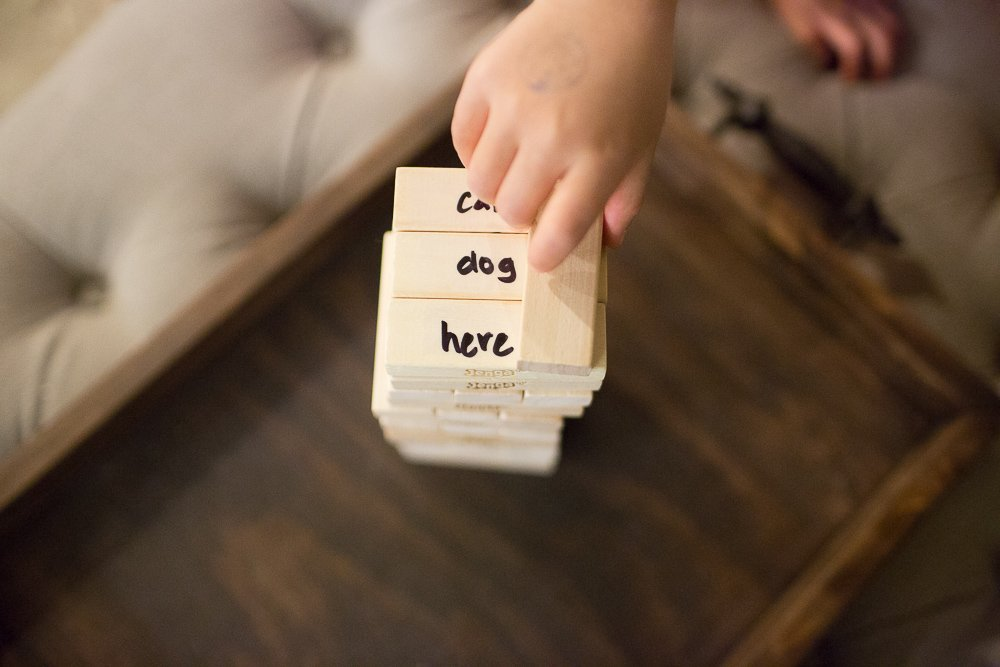 jenga with a twist with kids and sight words sengerson 0005