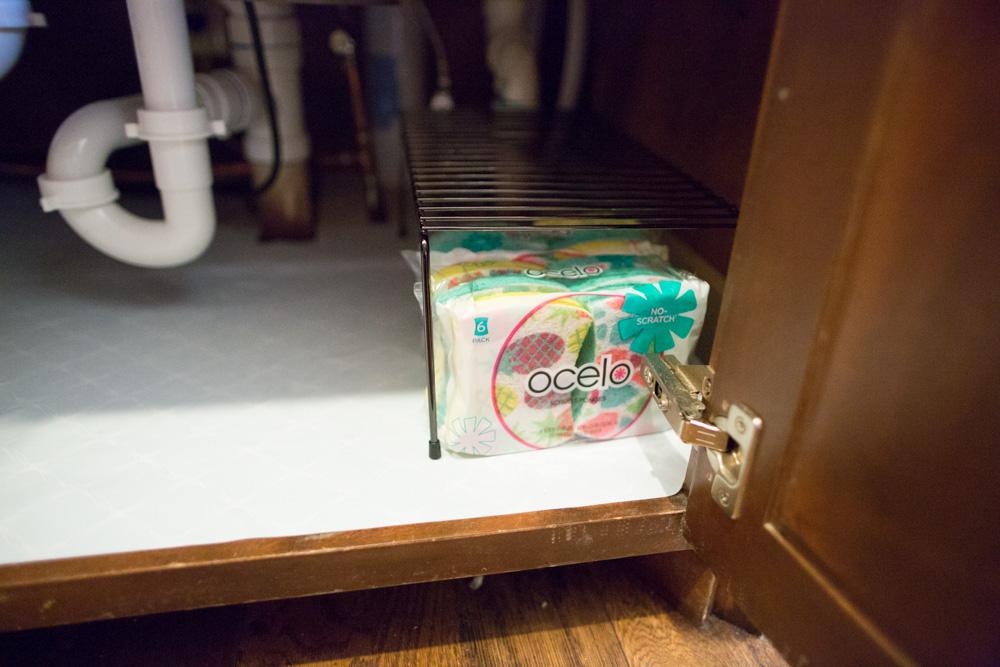organize under the kitchen sink