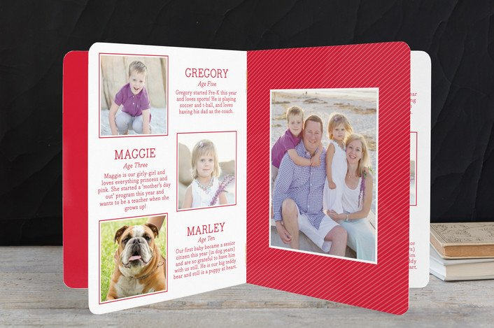 booklette holiday cards