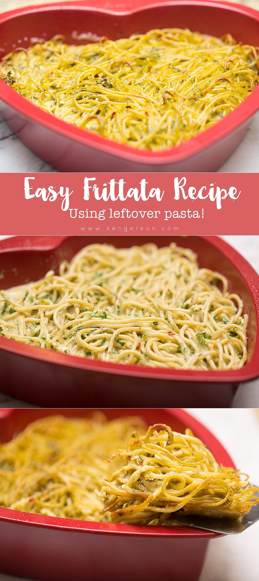 leftover pasta frittata recipe that is easy to make!