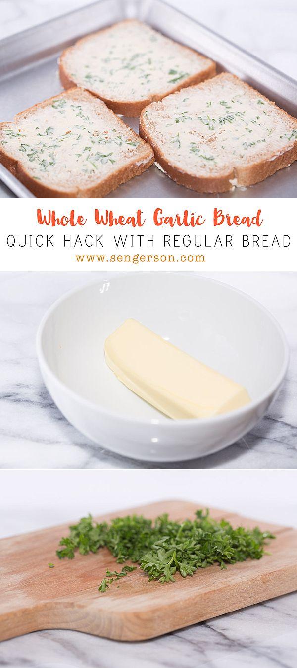 quick and easy garlic bread from regular bread!