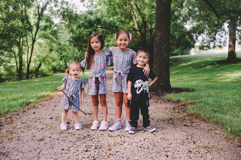 family of four kids
