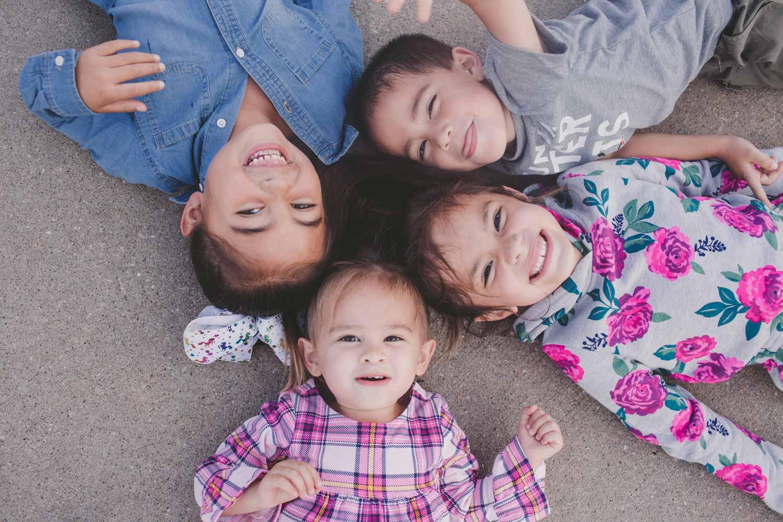 how far apart should four kids be