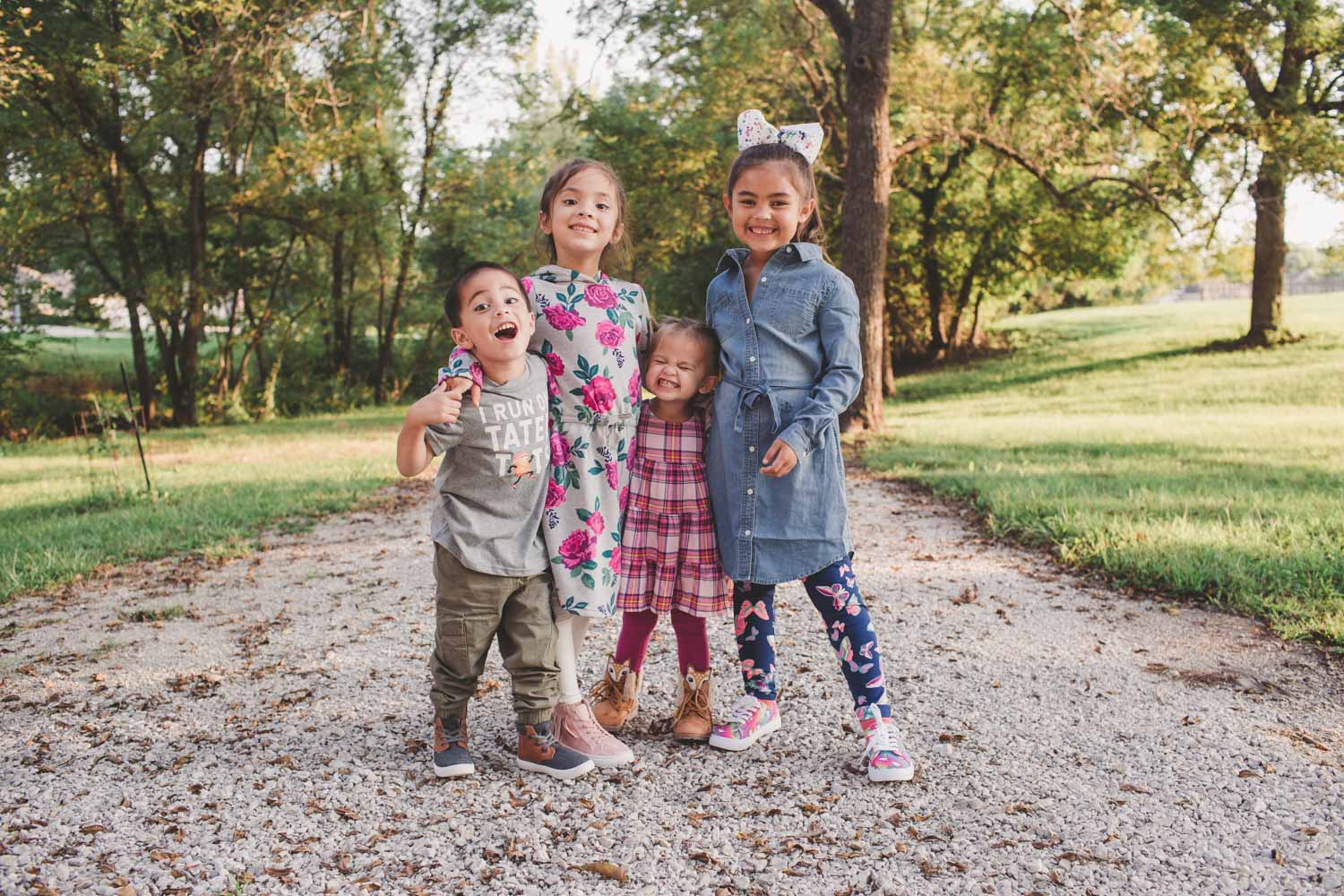 four siblings under the age of eight