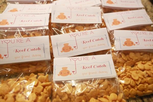 Valentine's Day Goldfish FREE Printable School Treats
